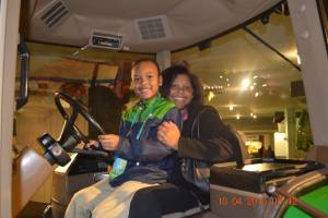 Naiima and Kaeden at the museum